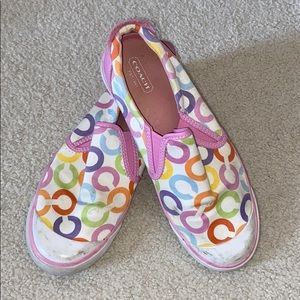 Coach Colorful Slip on Sneakers